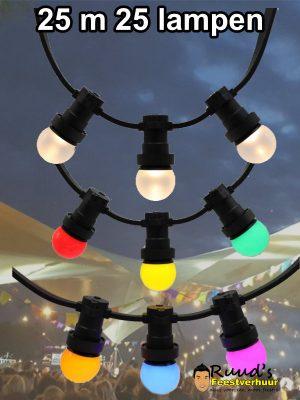 prikkabel huren partyverlichting 25 meter met 25 lampen
